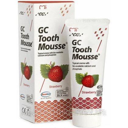 Тус Мусс Клубника (TOOTH MOUSSE) гель для реминерализации и укрепления зубов GC, 1 тюбик 35 мл
