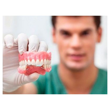 The partial denture tooth from a plastic